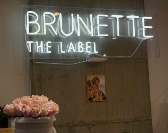 Brunette sign